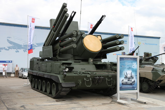 Tracked Pantsir-S1 airdefence missile system