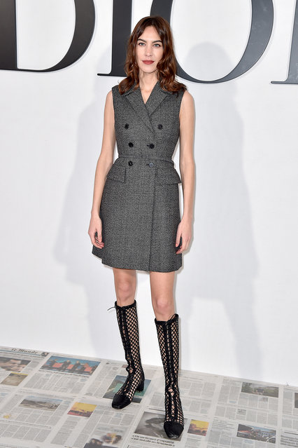 Alexa Chung attends the Dior show as part of the Paris Fashion Week Womenswear Fall/Winter 2020/2021 on February 25, 2020 in Paris, France. (Photo by Dominique Charriau/WireImage)