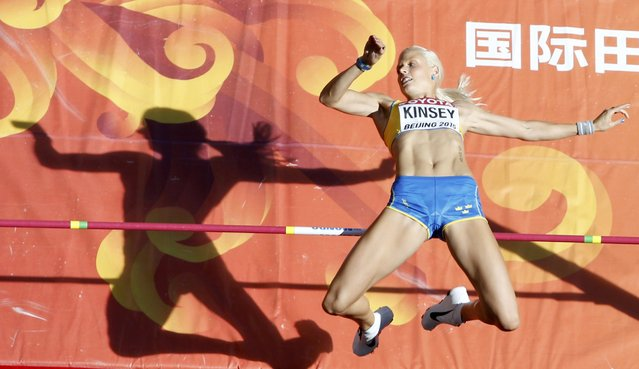 Erika Kinsey of Sweden competes in the women's high jump qualifying round during the 15th IAAF World Championships at the National Stadium in Beijing, China, August 27, 2015. (Photo by Kim Kyung-Hoon/Reuters)