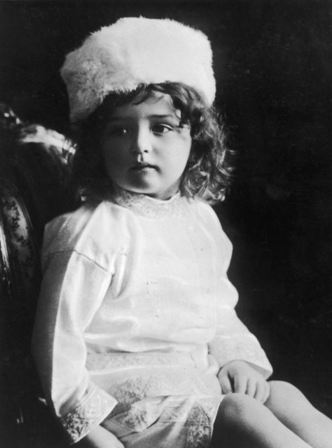 Tsarevich Alexei Nikolaevich of Russia (1904–1918), only son of Tsar Nicholas II, circa 1908. He was murdered with the rest of his family at Yekaterinburg, following the Russian Revolution. (Photo by Keystone)