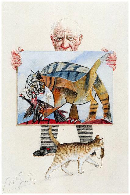 Picassos Katze. Artwork by Michael Mathias Prechtl