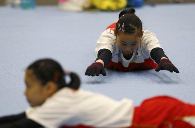2016 Rio Olympics, Artistic gymnastics, Women's Training, Rio Athletes Park, Rio De Janeiro, Brazil on July 27, 2016. Gymnasts from Japan train. (Photo by Ivan Alvarado/Reuters)