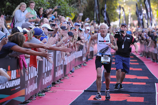 Garth Barfoot (80) of New Zealand runs to the finish line during Ironman 70.3 World Championship on September 4, 2016 in Sunshine Coast, Australia. (Photo by Matt Roberts/Getty Images)