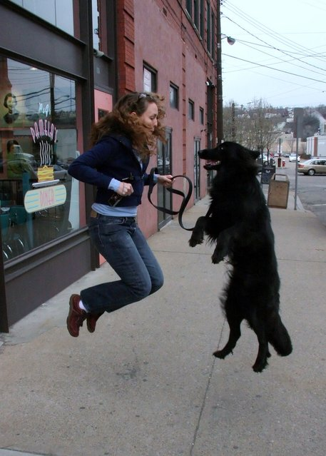 """Jumpology"". ""Laura & Zero"". Pittsburgh, USA. (Photo by Chuck Schneider)"