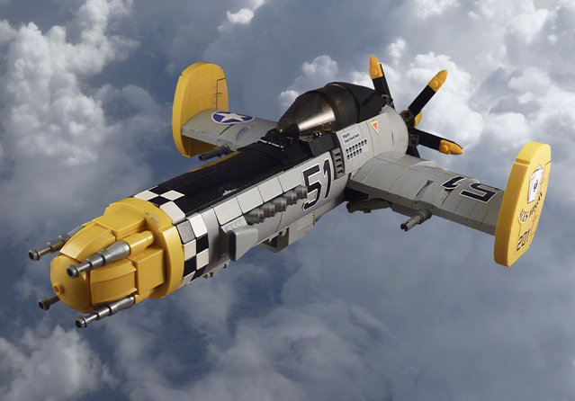 """""""P-70 Predator. The Predator was designed as a heavy fighter, its large fuel tank and large ammo cache meant it could go on extended sorties and stay in the air longer before refuelling than other similar size planes. They were instrumental in the defence of the Meneres Straits where they earned their nickname of the """"Sky Shark""""."""". (Jon Hall)"""