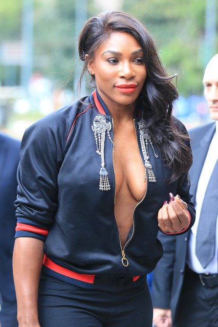 Serena Williams is seen on September 21, 2016 in Milan, Italy. (Photo by Robino Salvatore/GC Images)