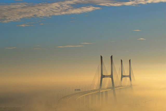 Vasco da Gama Bridge, Lisbon, Portugal. (Photo by F.  Mira)