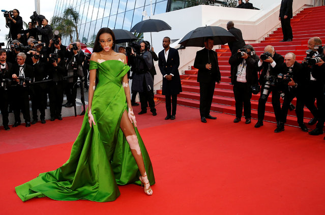 """Winnie Harlow attends the screening of """"Blackkklansman"""" during the 71st annual Cannes Film Festival at Palais des Festivals on May 14, 2018 in Cannes, France. (Photo by Stephane Mahe/Reuters)"""