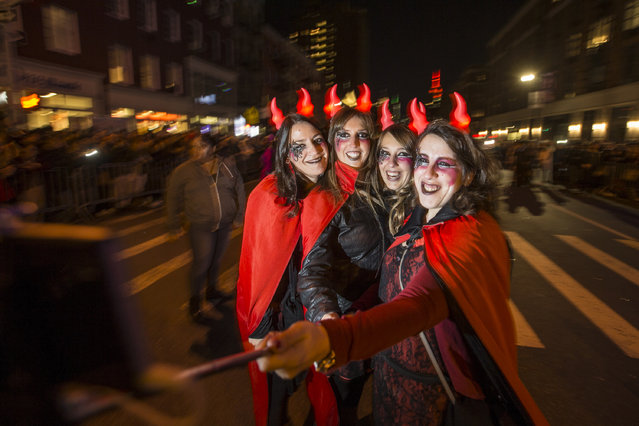 The 2016 Greenwich Village Halloween parade, October 31, 2016 in the Manhattan borough of New York City. (Photo by Anthony Causi)