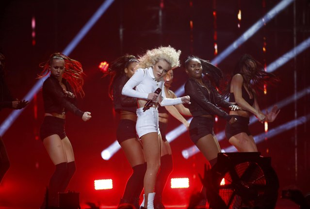 Zara Larsson performs on stage at the 2016 MTV Europe Music Awards at the Ahoy Arena in Rotterdam, Netherlands, November 6, 2016. (Photo by Yves Herman/Reuters)