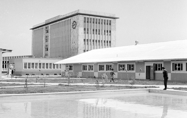 The modern new (completed 1966) government printing plant in Kabul, on June 9, 1966, which houses Kabul Times. Most of its machinery was furnished by West Germany. (Photo by AP Photo via The Atlantic)