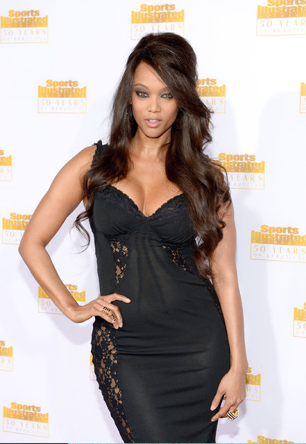 Model and TV Personality Tyra Banks attends NBC and Time Inc. celebrate the 50th anniversary of the Sports Illustrated Swimsuit Issue at Dolby Theatre on January 14, 2014 in Hollywood, California. (Photo by Dimitrios Kambouris/Getty Images)