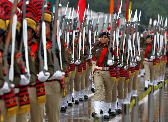 Police women march during India's Republic Day parade in Chandigarh, India January 26, 2017. (Photo by Ajay Verma/Reuters)