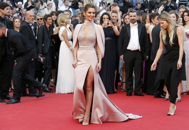 "Singer Cheryl Fernandez-Versini aka Cheryl Cole poses on the red carpet as she arrives for the screening of the film ""Irrational Man"" out of competition at the 68th Cannes Film Festival in Cannes, southern France, May 15, 2015. (Photo by Regis Duvignau/Reuters)"