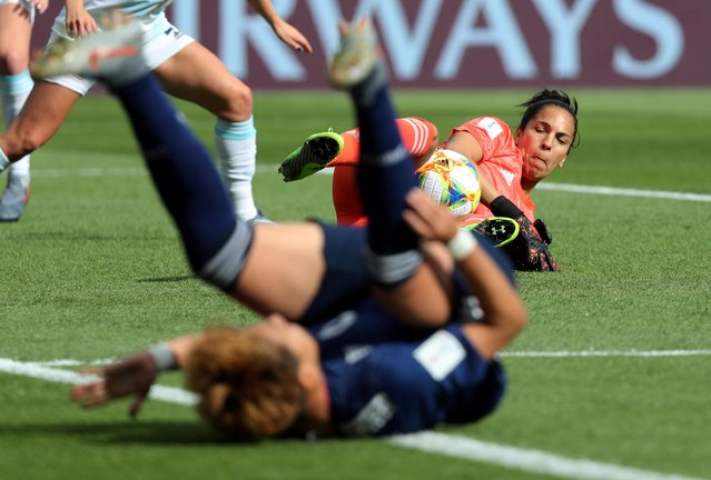 Argentina's forward Sole Jaimes in action during the France 2019 Women's World Cup Group D football match between Argentina and Japan, on June 10, 2019, at the Parc des Princes stadium in Paris. (Photo by Lucy Nicholson/Reuters)