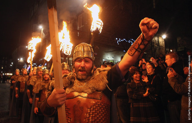Viking Ceremony Kicks Off Edinburgh Hogmanay Celebrations