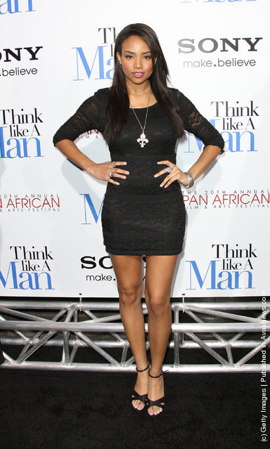 Actress Meagan Tandy attends the Premiere of Screen Gems' 'Think Like A Man' at the ArcLight Cinemas Cinerama Dome