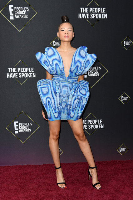 Storm Reid attends the 2019 E! People's Choice Awards at Barker Hangar on November 10, 2019 in Santa Monica, California. (Photo by Jon Kopaloff/FilmMagic)