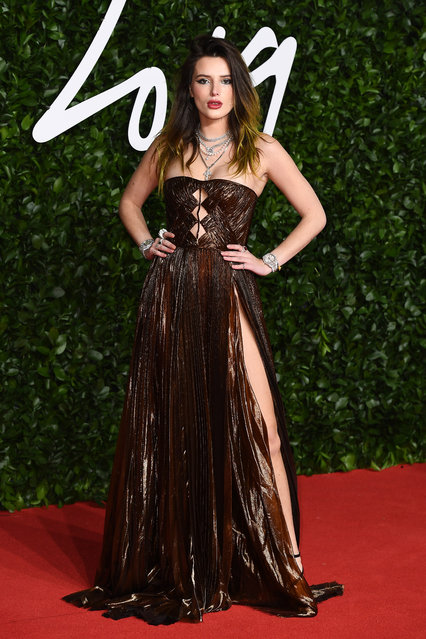 Bella Thorne arrives at The Fashion Awards 2019 held at Royal Albert Hall on December 02, 2019 in London, England. (Photo by Jeff Spicer/BFC/Getty Images)