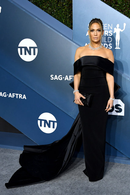 Jennifer Lopez attends the 26th Annual Screen ActorsGuild Awards at The Shrine Auditorium on January 19, 2020 in Los Angeles, California. (Photo by Jon Kopaloff/Getty Images)