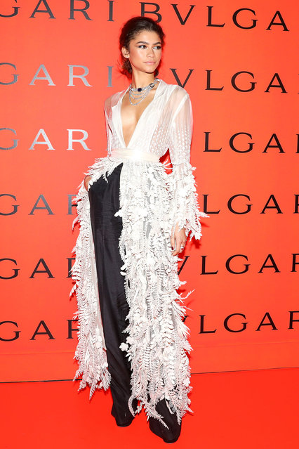 Zendaya attends the Bvlgari B.zero1 Rock collection event at Duggal Greenhouse on February 06, 2020 in Brooklyn, New York. (Photo by Samantha Nandez/BFA.com)