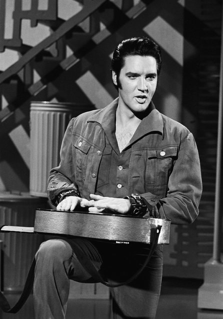 Elvis Presley during his '68 Comeback Special on NBC on June 27, 1968. (Photo by: Frank Carroll/Gary Null/NBC/NBCU Photo Bank via Getty Images)