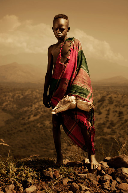 Omo Valley children that go to school are required to wear uniforms instead of tribal clothes. (Photo by Diego Arroyo)