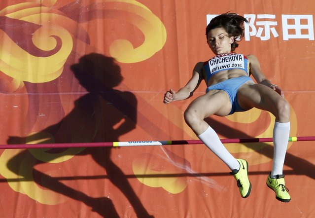 Anna Chicherova of Russia competes in the women's high jump qualifying round during the 15th IAAF World Championships at the National Stadium in Beijing, China, August 27, 2015. (Photo by Kim Kyung-Hoon/Reuters)