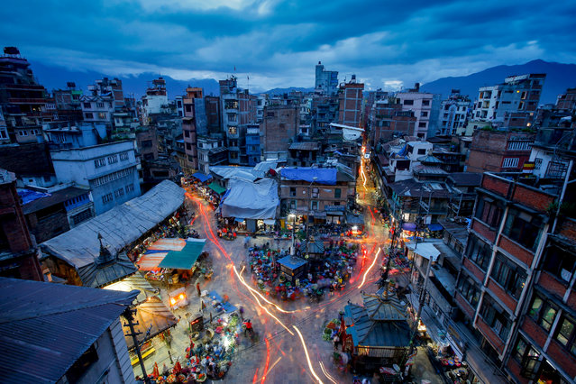 6: Kathmandu, Nepal. Latest ranking: 124; Ranking five years ago: 128; Five-year index movement: 2.3%. Here: Shopping in Ason market. (Photo by Narendra Shrestha/EPA)