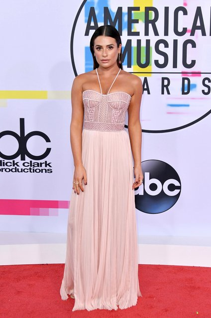 Lea Michele attends the 2017 American Music Awards at Microsoft Theater on November 19, 2017 in Los Angeles, California. (Photo by Neilson Barnard/Getty Images)