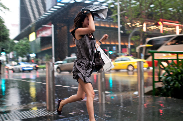 Bad Weather. Girl in the rain