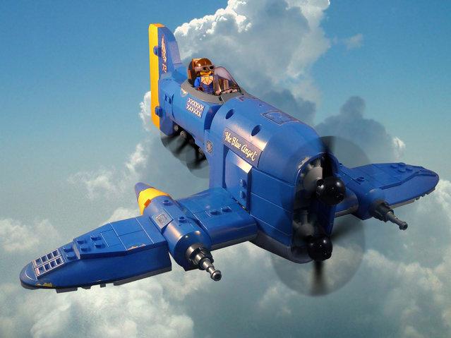 """""""Flying Ace Veronica Andrews in her P-21 Avenger, the Blue Angel"""". (Jon Hall)"""