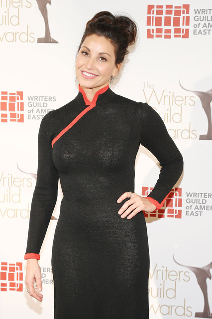Actress Gina Gershon attends the 65th annual Writers Guild East Coast Awards at B.B. King Blues Club & Grill on February 17, 2013 in New York City. (Photo by Neilson Barnard)