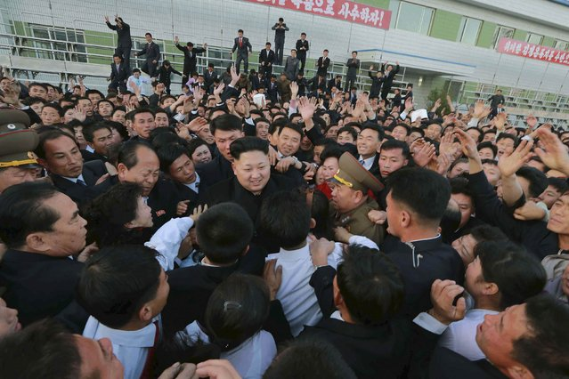 North Korean leader Kim Jong Un visits the Korean People's Army's (KPA) February 20 Factory, which produces foodstuff, in this undated photo released by North Korea's Korean Central News Agency (KCNA) in Pyongyang on November 15, 2014. (Photo by Reuters/KCNA)