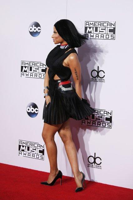 Nicki Minaj arrives at the 42nd American Music Awards in Los Angeles, California November 23, 2014. (Photo by Danny Moloshok/Reuters)