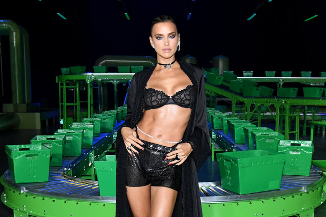In this image released on October 1, Irina Shayk is seen onstage during Rihanna's Savage X Fenty Show Vol. 2 presented by Amazon Prime Video at the Los Angeles Convention Center in Los Angeles, California; and broadcast on October 2, 2020. (Photo by Kevin Mazur/Getty Images for Savage X Fenty Show Vol. 2 Presented by Amazon Prime Video)