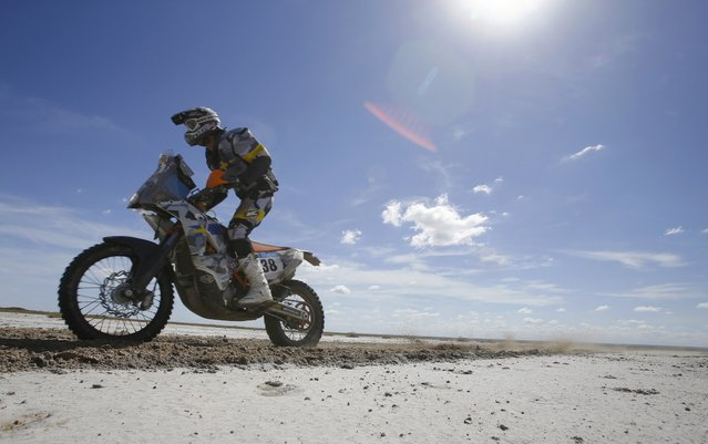 KTM rider Thomas Berglund of Sweden rides during the 2nd stage of the Dakar Rally 2015, from Villa Carlos Paz to San Juan January 5, 2015. (Photo by Jean-Paul Pelissier/Reuters)