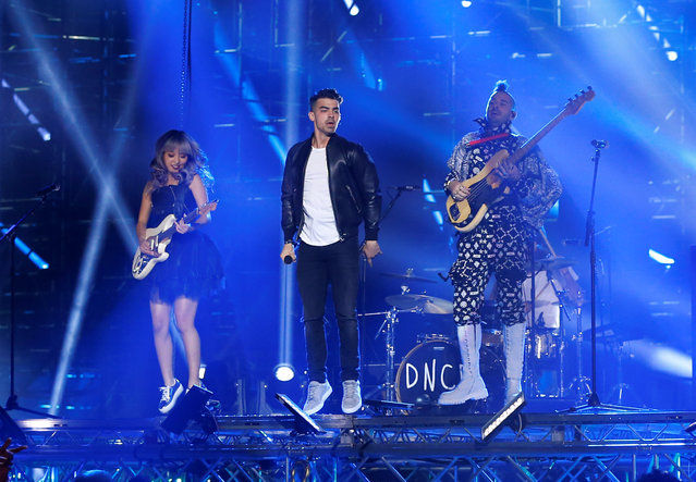 Rock band DNCE performs on stage at the 2016 MTV Europe Music Awards at the Ahoy Arena in Rotterdam, Netherlands, November 6, 2016. (Photo by Yves Herman/Reuters)