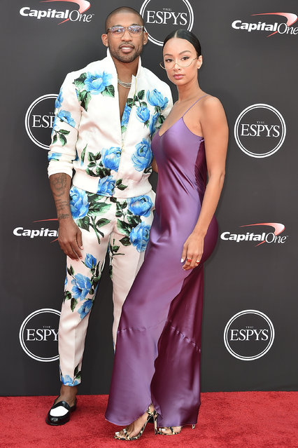 Orlando Scandrick and Draya Michele attend The 2018 ESPYS at Microsoft Theater on July 18, 2018 in Los Angeles, California. (Photo by David Crotty/Patrick McMullan via Getty Images)