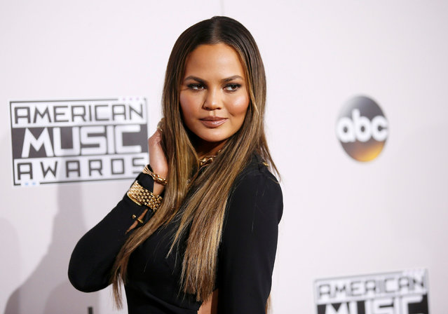 Model Chrissy Teigen arrives at the 2016 American Music Awards in Los Angeles, California, U.S., November 20, 2016. (Photo by Danny Moloshok/Reuters)