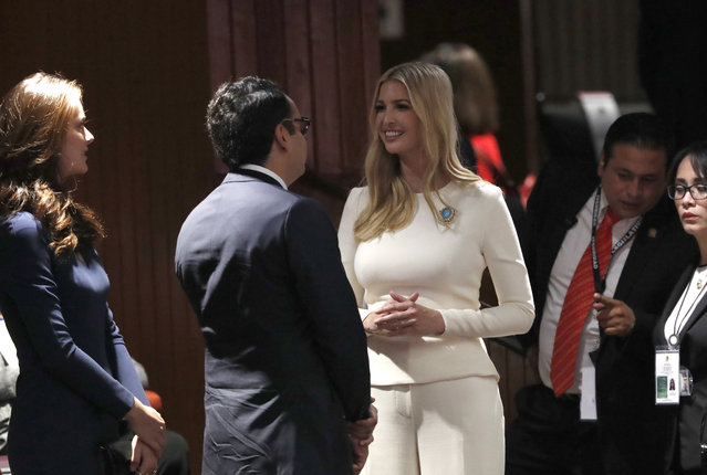 Ivanka Trump, the daughter and assistant to President Donald Trump, arrives at the National Congress to attend the inauguration of President-elect Andres Manuel Lopez Obrador, in Mexico City, Saturday, December 1, 2018.  (Photo by Marco Ugarte/AP Photo)