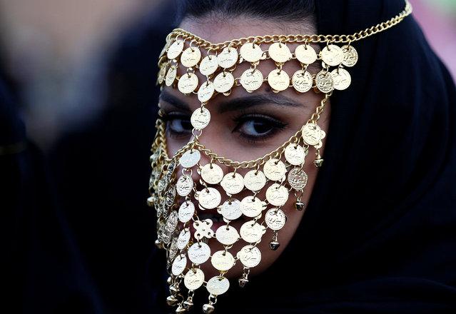 A woman attends Janadriyah Cultural Festival on the outskirts of Riyadh, Saudi Arabia February 8, 2017. (Photo by Faisal Al Nasser/Reuters)