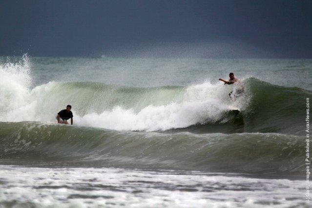 Florida Beaches Feel Effects Of Hurricane Irene