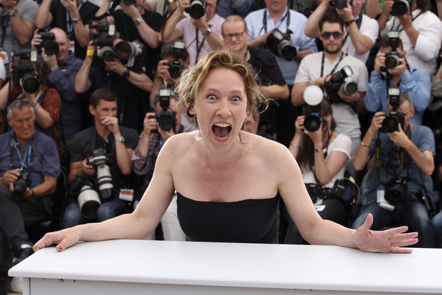 Director Emmanuelle Bercot poses for photographers during a photo call for La Tete Haute (Standing Tall), at the 68th international film festival, Cannes, southern France, Wednesday, May 13, 2015. (Photo by Lionel Cironneau/AP Photo)