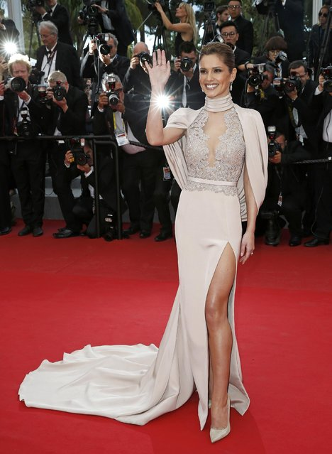 "Singer Cheryl Fernandez-Versini aka Cheryl Cole poses on the red carpet as she arrives for the screening of the film ""Irrational Man"" out of competition at the 68th Cannes Film Festival in Cannes, southern France, May 15, 2015. (Photo by Benoit Tessier/Reuters)"