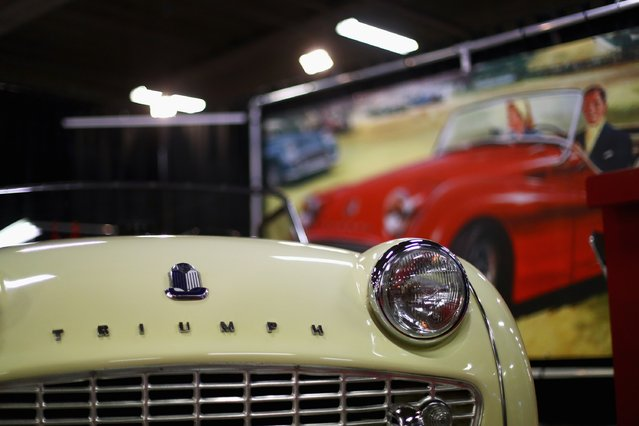 A detailed view of the Triumph TR3-A during the The 40th Antwerp Classic Salon run by SIHA Salons Automobiles and held at Antwerp EXPO Halls on March 3, 2017 in Antwerpen, Belgium. (Photo by Dean Mouhtaropoulos/Getty Images)