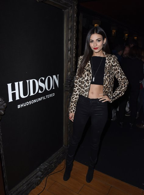 Actress Victoria Justice attends a private event hosted by Hudson at Hyde Staples Center for a Red Hot Chili Peppers concert on March 7, 2017 in Los Angeles, California. (Photo by Vivien Killilea/Getty Images for Hudson Jeans)