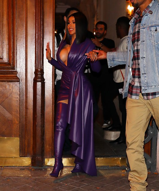 Rapper Cardi B is seen in Paris, France on September 30, 2019 at Paris Fashion Week. (Photo by Splash News and Pictures)