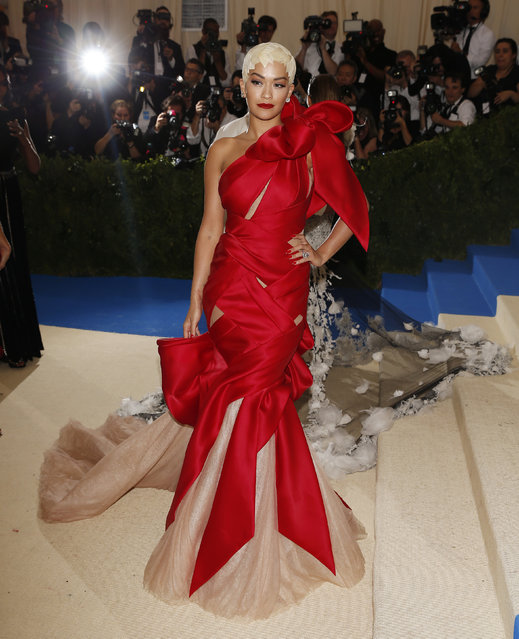"""Rita Ora attends """"Rei Kawakubo/Comme des Garcons: Art Of The In-Between"""" Costume Institute Gala – Arrivals at Metropolitan Museum of Art on May 1, 2017 in New York City. (Photo by Brendan Mcdermid/Reuters)"""
