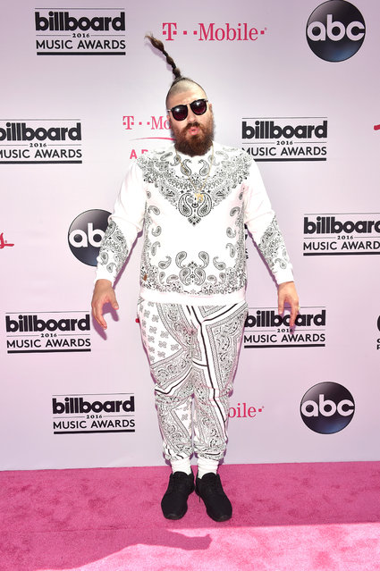 "Internet personality Josh Ostrovsky aka ""The Fat Jew"" attends the 2016 Billboard Music Awards at T-Mobile Arena on May 22, 2016 in Las Vegas, Nevada. (Photo by David Becker/Getty Images)"